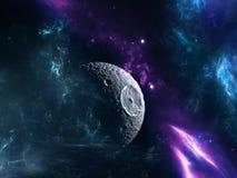 Planety i galaxy, nauki fikci tapeta Obrazy Royalty Free