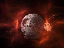 Planety i galaxy, nauki fikci tapeta Zdjęcia Stock