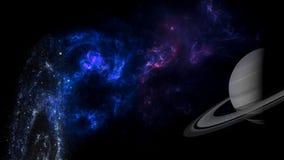 Planety i galaxy, nauki fikci tapeta Pi?kno g??boka przestrze? zdjęcie stock