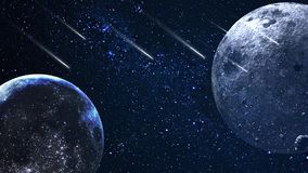 Planety i galaxy, nauki fikci tapeta Pi?kno g??boka przestrze? Miliardy galaxy w wszechrzeczym Pozaziemskim sztuki tle, Ver obrazy stock