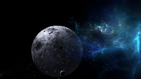 Planety i galaxy, nauki fikci tapeta Pi?kno g??boka przestrze? Miliardy galaxy w wszechrzeczym Pozaziemskim sztuki tle, Ver obraz stock