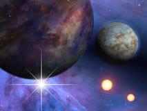 Planety i słońca royalty ilustracja