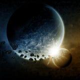 planety ilustracyjna przestrzeń royalty ilustracja