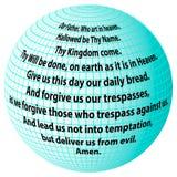 Planety modlitwa Nasz ojciec ilustracji