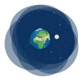 planety tła naziemnych pełne gwiazd Obrazy Royalty Free