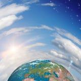 planety tła naziemnych pełne gwiazd zdjęcie royalty free