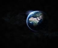 planety tła naziemnych pełne gwiazd Zdjęcia Stock