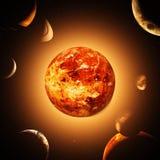 planety tła naziemnych pełne gwiazd ilustracja wektor