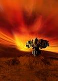 planety TARGET1920_1_ futurystyczna powierzchnia Zdjęcie Stock