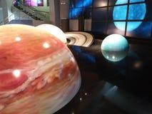 Planety w Moskwa planetarium Obraz Royalty Free