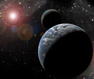Planety w przestrzeni Zdjęcie Royalty Free