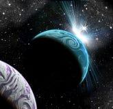Planety w przestrzeni Obrazy Royalty Free