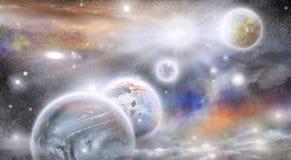 Planety w przestrzeni Fotografia Royalty Free