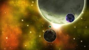 Planety w przestrzeni cykl royalty ilustracja