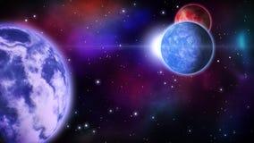 Planety w przestrzeni pętla royalty ilustracja