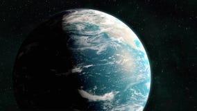 Planety ziemi świtu przerwy nad America ilustracji