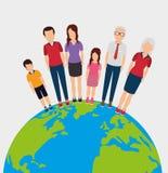 Planety ziemi projekt ilustracja wektor