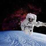 Planety ziemia na astronautycznym tle Zdjęcia Royalty Free
