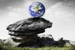 Planety ziemia na skałach Fotografia Royalty Free