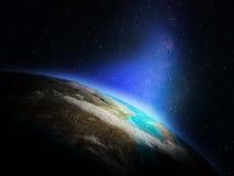 Planety ziemia od przestrzeni ilustracja wektor