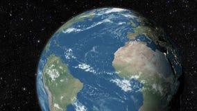 Planety ziemia od przestrzeni royalty ilustracja