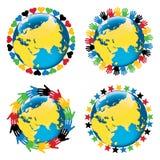 Planety ziemia otacza różnorodność Olimpijskim Ilustracji