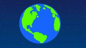 Planety ziemia w kosmosie zbiory wideo