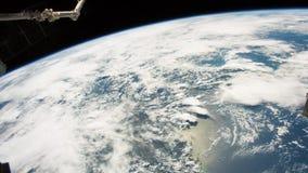 Planety ziemia widzieć od ISS Piękna planety ziemia obserwująca od przestrzeni Nasa czasu upływu strzelaniny ziemia od przestrzen zbiory