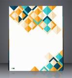 Plangeschäftsflieger, Titelseite oder korporative Schablonenanzeige des geometrischen Designs Lizenzfreie Stockfotografie