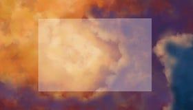 Planhimmel und -wolken Undurchsichtige flache Lage lizenzfreie stockfotos