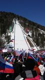 Planica. Ski world cup jumping Stock Image