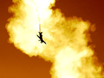 Planieren Sie in die Wolke von Rauche II lizenzfreie stockfotografie