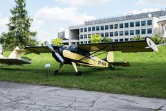 Planieren Sie mit Propeller im Luftfahrt-Museum in Krakau stockfoto