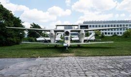 Planieren Sie mit Propeller im Luftfahrt-Museum in Krakau Stockbilder