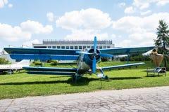 Planieren Sie mit Propeller im Luftfahrt-Museum in Krakau Lizenzfreie Stockbilder