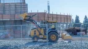 Planierraupe an der Baustelle Lizenzfreies Stockfoto
