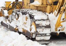 Planierraupe Frei vom Schnee Lizenzfreie Stockfotos