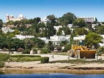 Planierraupe in Karthago, Tunesien Lizenzfreies Stockfoto