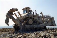 Planierraupen-Maschinen-Erdverlagerungs-Fahrzeug lizenzfreies stockfoto