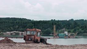Planierraupen-Maschinenarbeit stock footage