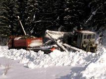 Planierraupen und Winter Lizenzfreie Stockfotos