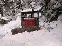 Planierraupen und Winter Lizenzfreie Stockfotografie