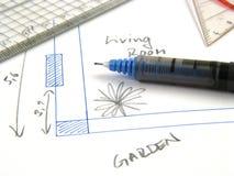 Planierung Ihres Hauses Stockfoto