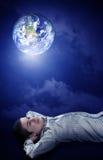 Planierung seiner Zukunft auf Erde Stockfoto