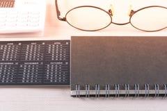 Planierungskonzept des Geschäfts mit Kalender Stockbild