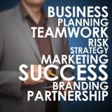 Planificación de empresas delantera Imagen de archivo
