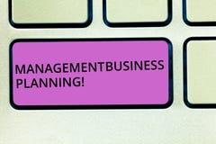 Planificación de empresas de la gestión del texto de la escritura Significado del concepto que se centra en pasos para hacer que  fotos de archivo