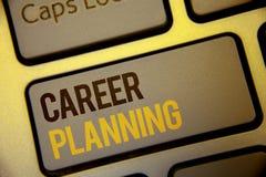 Planificación de la carrera del texto de la escritura Concepto que significa la estrategia educativa Job Growth Text del desarrol Imágenes de archivo libres de regalías