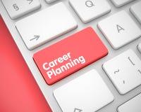 Planificación de la carrera - mensaje en el botón rojo del teclado 3d Foto de archivo