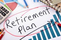 Planificación de la jubilación Fotos de archivo libres de regalías